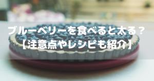 ブルーベリーを食べると太る?【注意点やレシピも紹介】